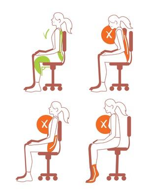 Lendenwirbelsäule-Schmerzen-lösen-durch-durch korrekte Sitzposition