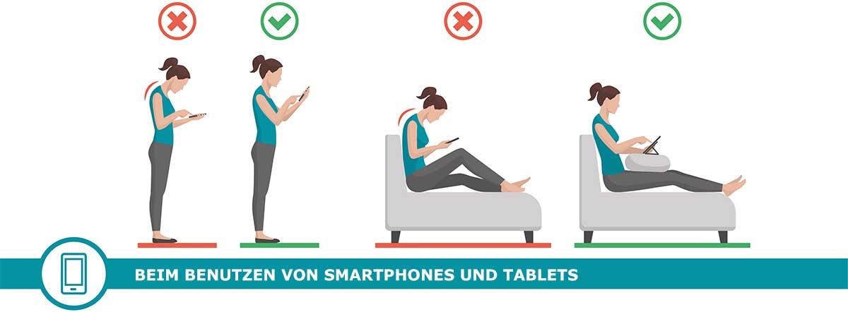 steifer Hals durch die Smartphone Nutzung